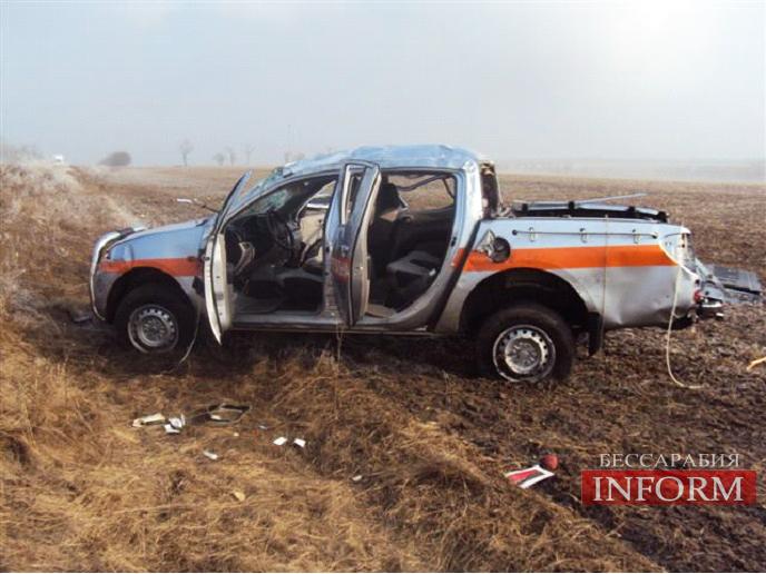 На трассе Рени - Одесса: Спасатели попали в аварию (фото)