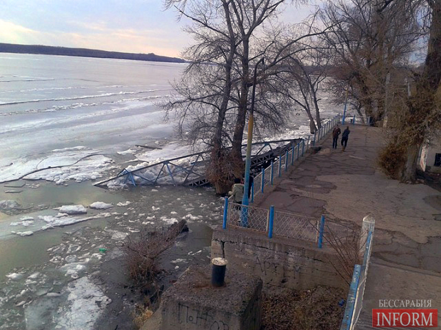 ЧП в Рени: последствия замерзшего Дуная
