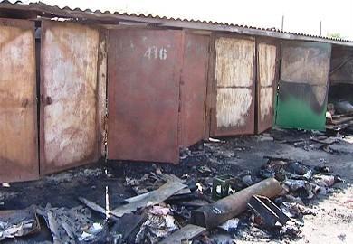 Килия: из-за возгорания сухой травы горят гаражи