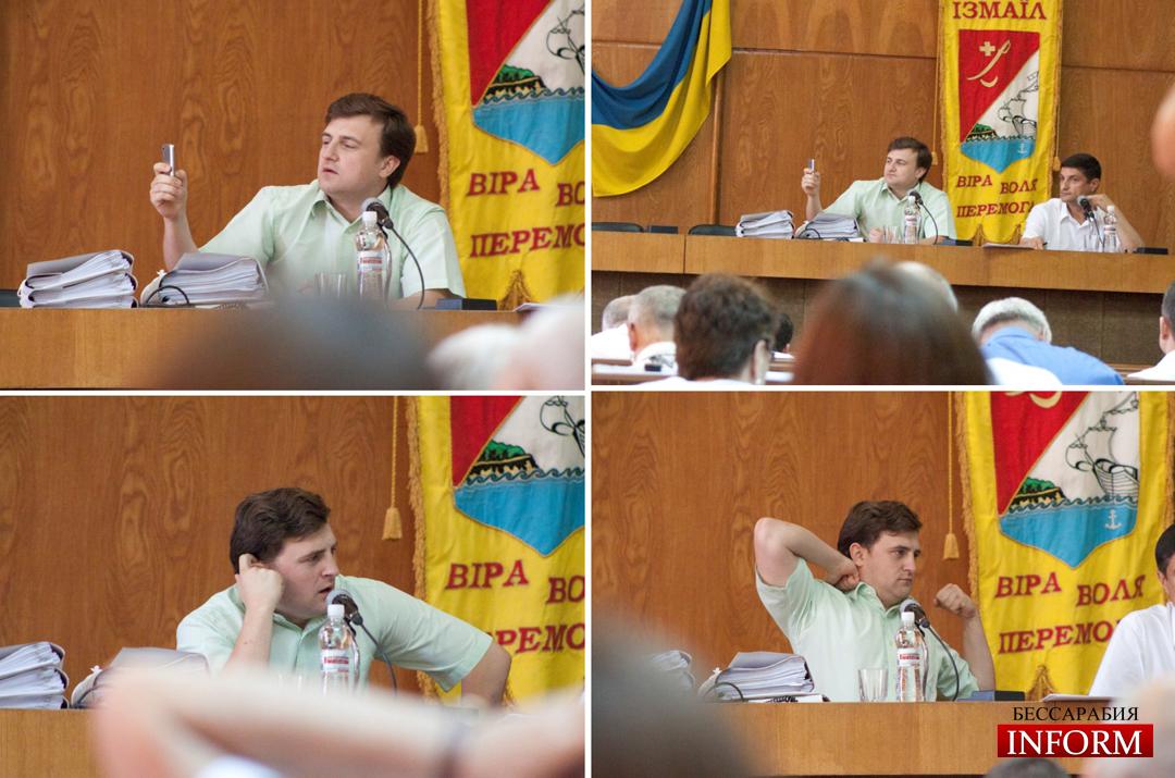Пундик пришел на сессию невыспавшийся и выступил в роли журналиста