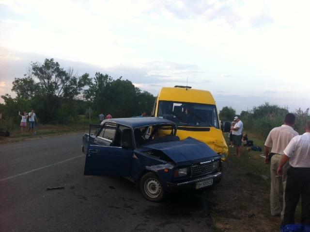 Маршрутка Одесса-Измаил попала в ДТП. Обновлено: ФОТО