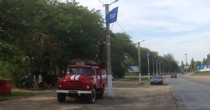 Белгород-Днестровский. Местная власть использует пожарников для агитации