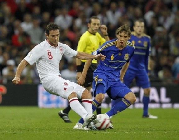 Вчера сборная Украины сыграла вничью с Англией!