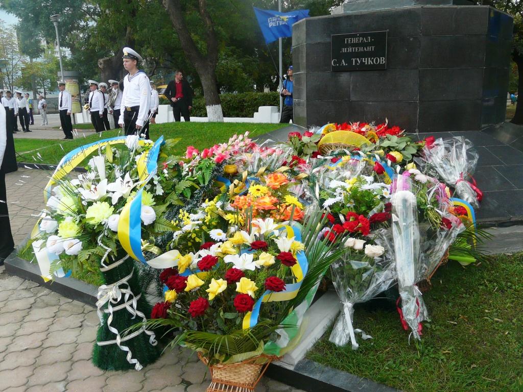Измаил. Праздничное утро у памятника С.А. Тучкову. ФОТОрепортаж