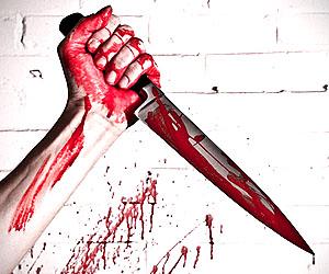 нож- Задержан убийца, который порезал и застрелил своих родителей.