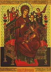 vsetzariza1 Митрополит Одесский и Измаильский Агафангел совершил молебен у чудотворной иконы «Всецарица»