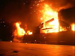В Ильичёвске сгорела база отдыха