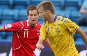 Сборная Украины обыграла  Норвегию