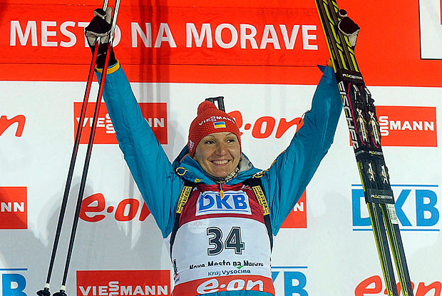 Украинка выиграла золото чемпионата мира по биатлону