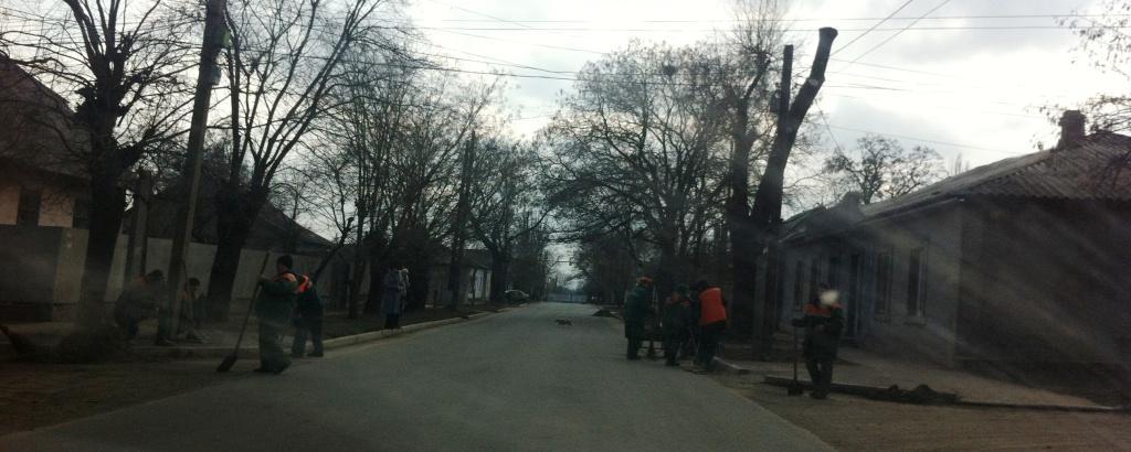 Дворники оккупировали улицы Измаила (фото)