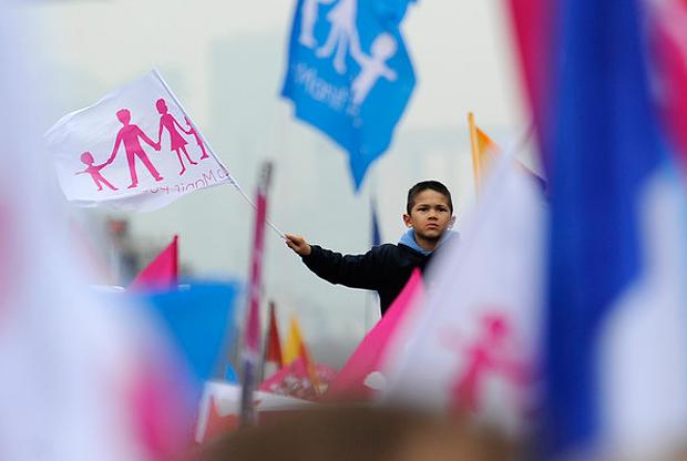 Во Франции на митинг противников однополых браков вышли 4 млн. человек