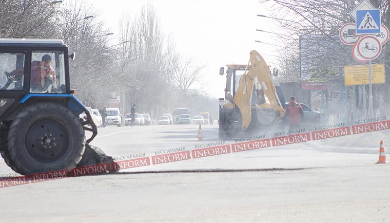 Внимание, водители Измаила! Ремонт на пр. Ленина (фото)