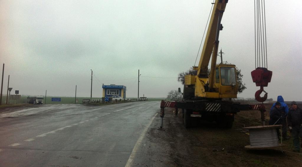 На пост ДПС на трассе Одесса - Рени пришло электричество