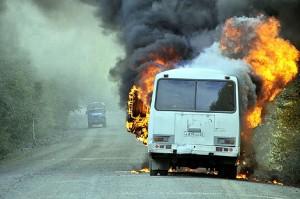 Б.-Днестровский: чуть не сгорел автобус