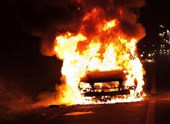 Вчера в Измаиле сгорел очередной автомобиль