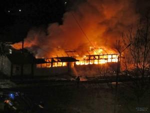 В Белгород-Днестровском районе сгорел бар