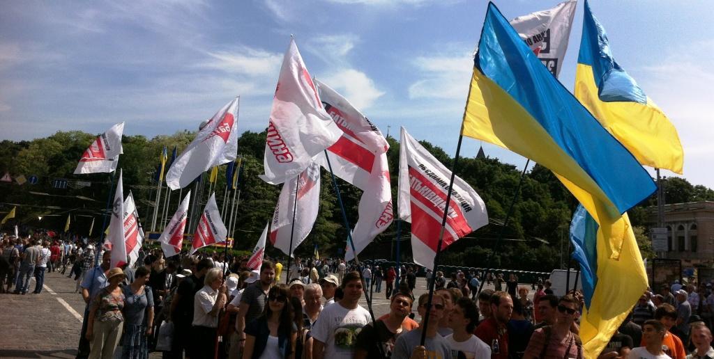 """Измаильчане на марше """"Вставай Украина"""""""