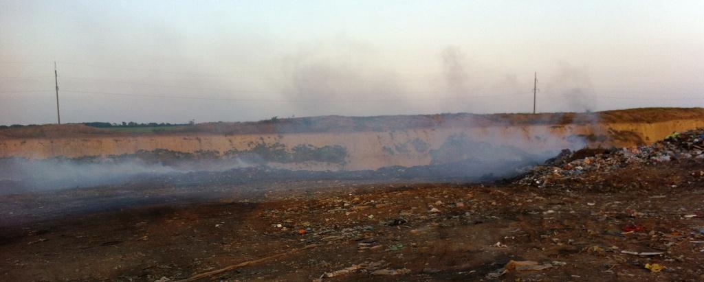 IMG 3121 В Измаиле горит свалка, люди задыхаются от дыма