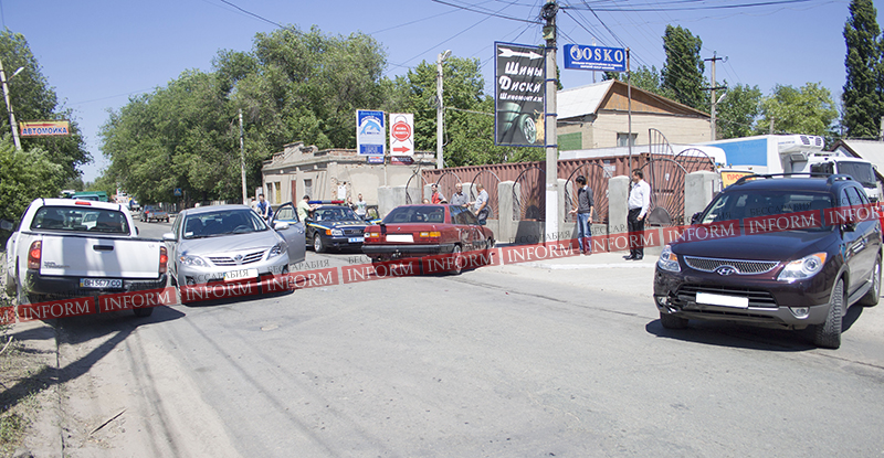 Измаил: Двойное столкновение на Некрасова; движение заблокировано (фото)