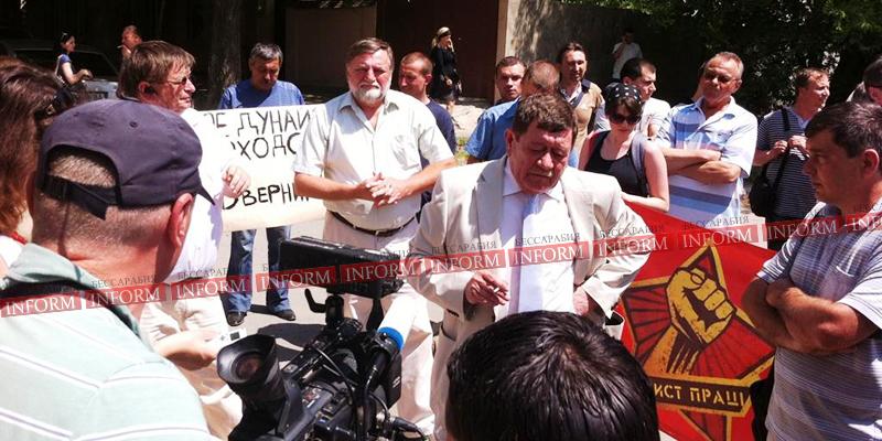 protest protiv ydp v izmaile 4 Работники УДП митингуют: хватит нас обманывать, заплатите нам зарплату!