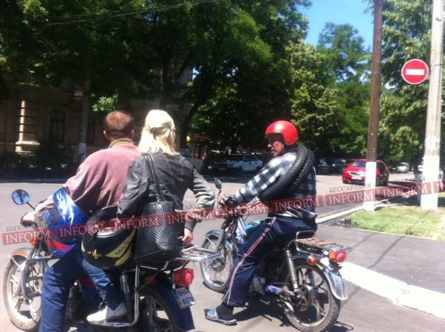 Подушка безопасности для мотоциклистов уже в Измаиле (фотофакт)