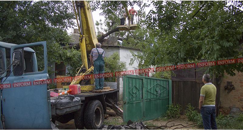 Измаил: из-за урагана на жилой дом обрушилось дерево (фото)