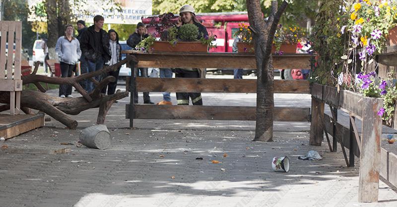 symasshedshaya v izmaile 2 1 Молодая девушка устроила погром в центре Измаила