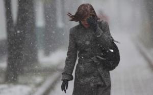 На следующей неделе циклон принесет снег и ветер в Украину