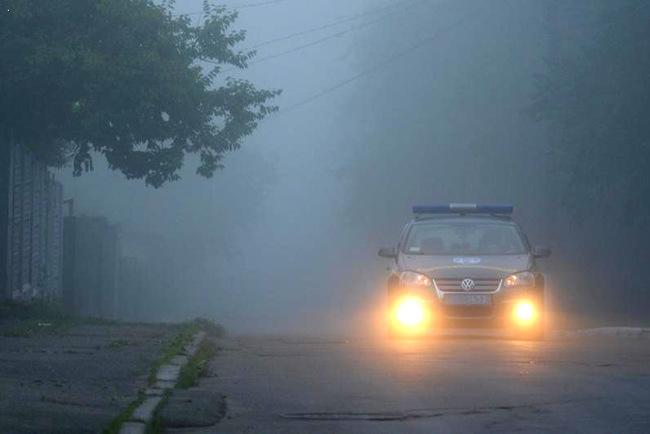 В условиях густого тумана