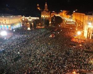 В Киеве церкви открыли двери для митингующих