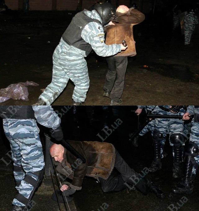 "Побоище под судом: ""Беркут"" рассек голову 75-летнему старику. ФОТО"
