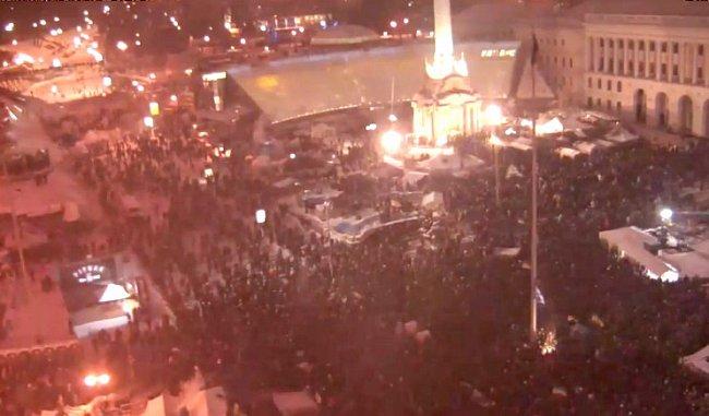 На Майдане началось Народное вече