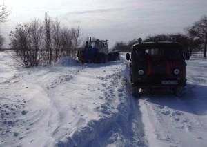 В  Бессарабии спасатели продолжают борьбу со снегом