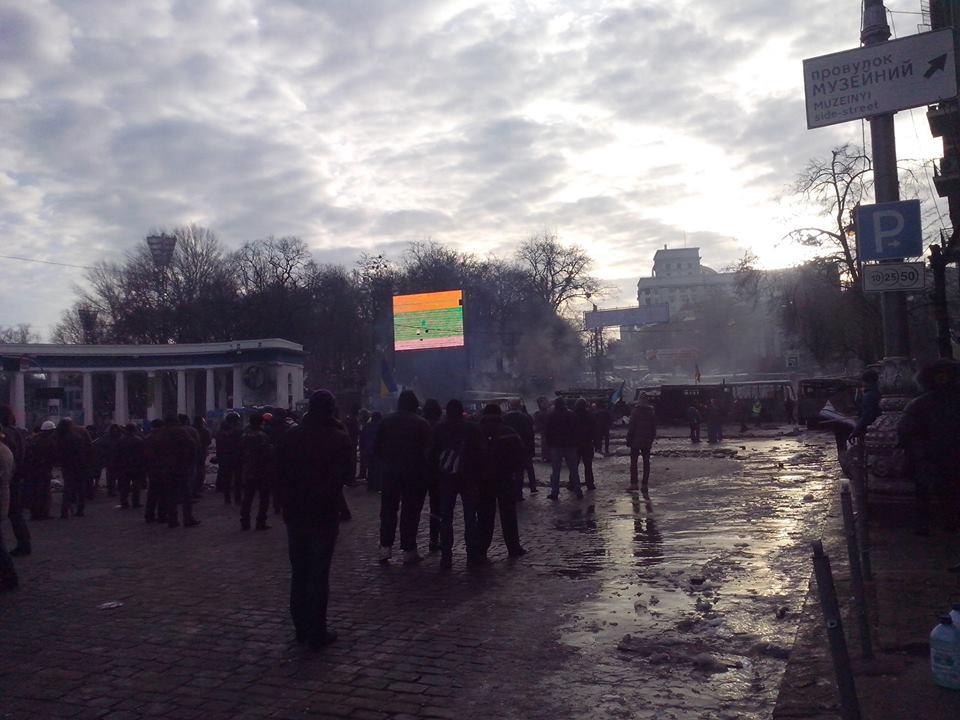 Как развивались события в столице последние сутки (фоторепортаж)