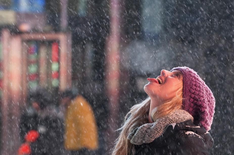 Фото дня: Вкус снега