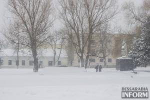 В Болградском районе снег создает трудности пограничникам