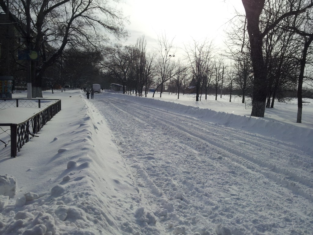 В Измаиле из-за снега перестал ходить общественный транспорт