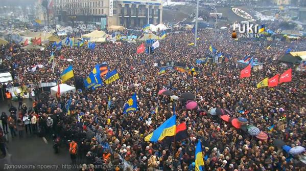 На Майдане прошло юбилейное десятое вече (фото)