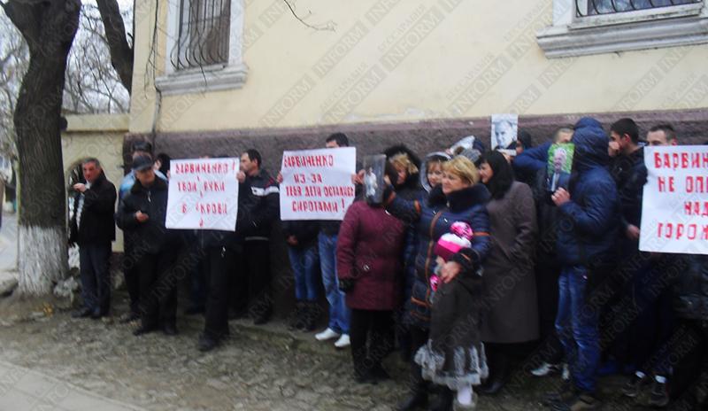 Протестующие: Барвиненко, твои руки в крови!