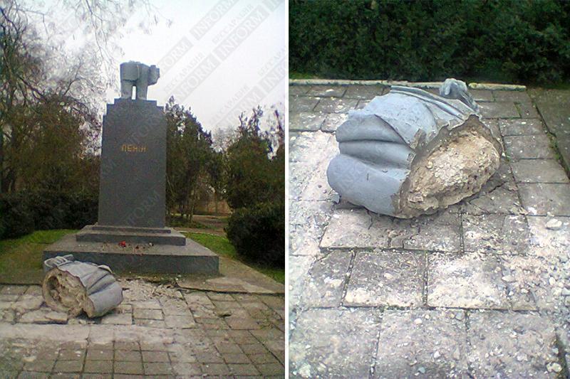В Килии пострадал Ленин (обновлено, фото)