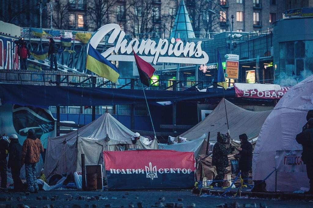 Несколько свежих фотографий с Майдана