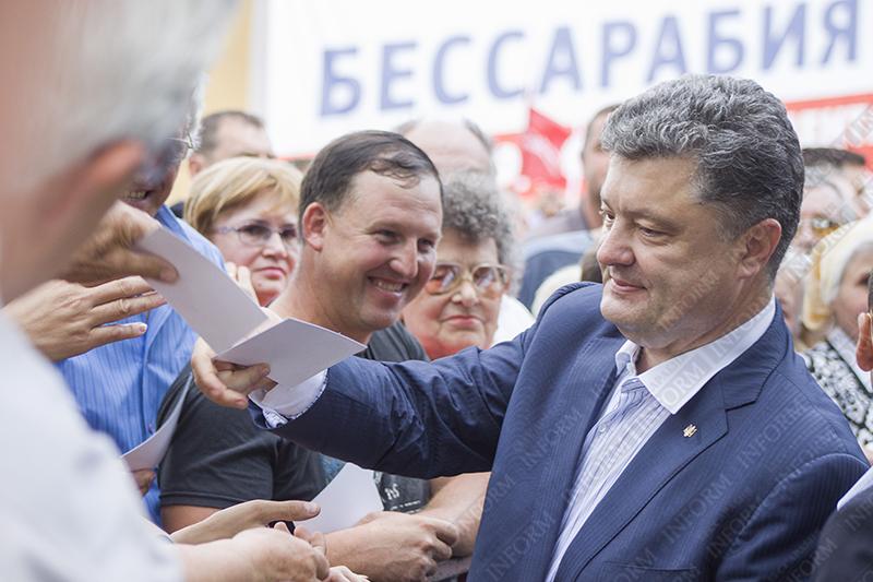 Визит Порошенко в Измаил - первый раз за 25 лет (ФОТО)