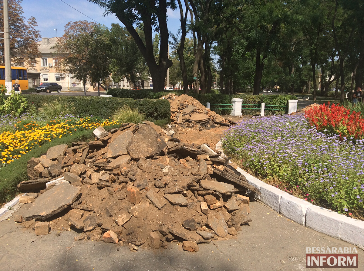 1 В Измаиле обновляют территорию возле Шевченка (фото)
