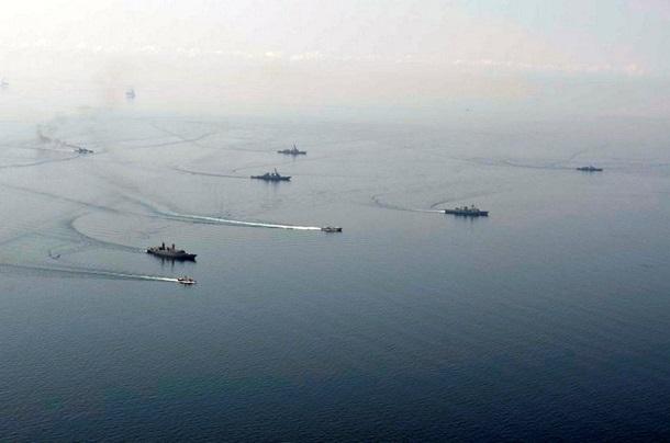 1501643 В Черном море закончились военно-морские учения (фото)