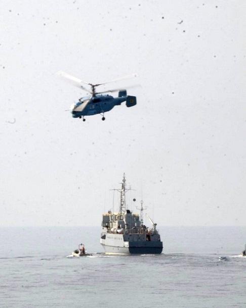 1501646 В Черном море закончились военно-морские учения (фото)
