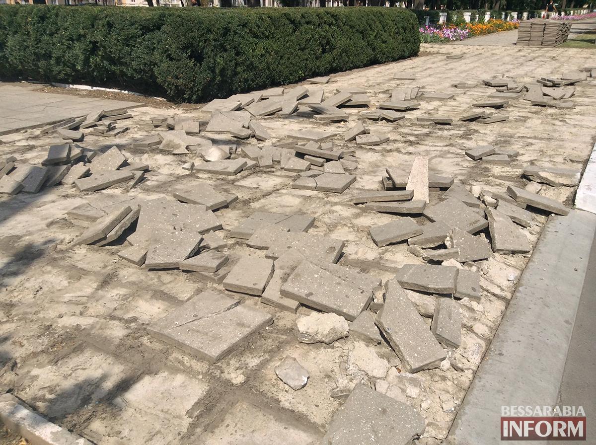 51 В Измаиле обновляют территорию возле Шевченка (фото)