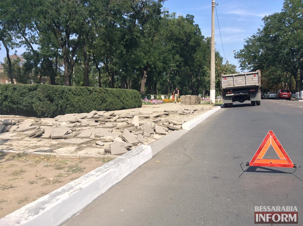 61 В Измаиле обновляют территорию возле Шевченка (фото)
