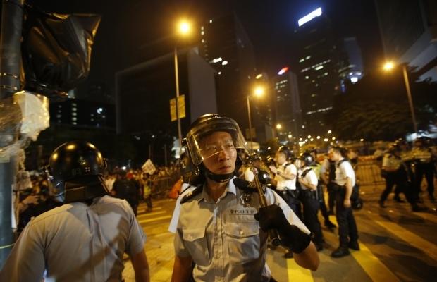 620_400_1413439287-9094 В Гонконге возобновилось противостояние полиции и активистов (фото)
