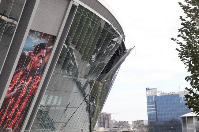 94feaa5b68e175778271e09007b8aab0 Фасад Донбасс Арены пострадал от взрыва (фото, видео)