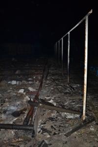 В Затоке ночью тушили базы отдыха